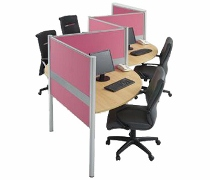 Konfigurasi 4 Orang (Warna Pink)